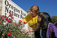 USA Today -- Mary Alice Phillips with her daughter Jane at the Oregon Trail Nature Park.