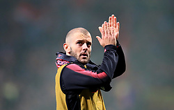 Arsenal's Jack Wilshere applauds the fans after the final whistle of the UEFA Europa League, Semi Final, Second Leg at Wanda Metropolitano, Madrid.