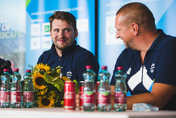 Luka Doncic during press conference at arrival of Slovenian national team from Tokio 2020 Olympic games, 8. August 2021, Airport Jozeta Pucnika, Ljubljana, Slovenia. Photo by Grega Valancic
