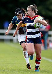 Chantelle Miell of Bristol Ladies runs with the ball - Mandatory by-line: Robbie Stephenson/JMP - 18/09/2016 - RUGBY - Cleve RFC - Bristol, England - Bristol Ladies Rugby v Aylesford Bulls Ladies - RFU Women's Premiership