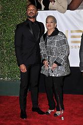 Michael B. Jordan (L) and Donna Jordan at The 49th NAACP Image Awards held at the Pasadena Civic Auditorium on January 15, 2018 in Pasadena, CA, USA (Photo by Sthanlee B. Mirador/Sipa USA)