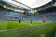 Argentina players warm up before the 2018 FIFA World Cup Russia, Group D football match between Nigeria and Argentina on June 26, 2018 at Saint Petersburg Stadium in Saint Petersburg, Russia - Photo Stanley Gontha / Pro Shots / ProSportsImages / DPPI