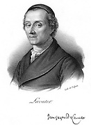 Johann Kaspar Lavater (1741-1801), Swiss physiognomist and theologian.   Physiognomy is the art of reading psychological traits from physical characteristics. He attempted to make Physiognomy a science. (Paris, c1830). Lithograph.