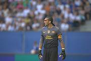 Fussball: International Friendly, 125 years, Hamburger SV - FC Barcelona 1:2, Hamburg, 24.07.2012<br /> goalkeeper Pinto (Barcelona)<br /> © Torsten Helmke