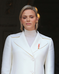 Princess Charlene The royal family of Monaco posing at the balcony of the Grimaldi castle for the National Day festivities on November 19th 2019.