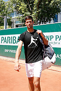 Novak Djokovic (SRB) at practice on court 5 during the Roland Garros French Tennis Open 2017, preview, on May 25, 2017, at the Roland Garros Stadium in Paris, France - Photo Stephane Allaman / ProSportsImages / DPPI