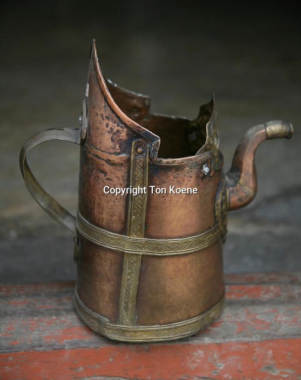 An old metal teapot from Tibet