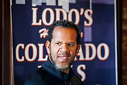 SHOT 12/10/17 12:21:15 PM - Former Buffalo Bills wide receiver and Hall of Fame player Andre Reed signs autographs and meets with fans at LoDo's Bar and Grill in Denver, Co. as the Buffalo Bills played the Indianapolis Colts that Sunday. Reed played wide receiver in the National Football League for 16 seasons, 15 with the Buffalo Bills and one with the Washington Redskins. (Photo by Marc Piscotty / © 2017)