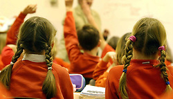 Embargoed to 0001 Friday April 28 File photo dated 03/12/03 of children during a lesson in a primary school. If the UK is serious about providing a good education for the nation's children then it must be willing to pay for it, headteachers have warned.