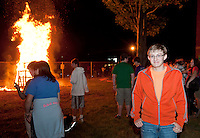 Laconia High School senior Jared Guilmett was instrumental in bringing back the Homecoming Bonfire to LHS for the first time in well over 20 years.  (Karen Bobotas/for the Laconia Daily Sun)