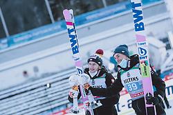 01.01.2021, Olympiaschanze, Garmisch Partenkirchen, GER, FIS Weltcup Skisprung, Vierschanzentournee, Garmisch Partenkirchen, Einzelbewerb, Herren, im Bild Sieger Dawid Kubacki (POL), 3. Platz Piotr Zyla (POL) // Winner Dawid Kubacki of Poland 3rd placed Piotr Zyla of Poland during the men's individual competition for the Four Hills Tournament of FIS Ski Jumping World Cup at the Olympiaschanze in Garmisch Partenkirchen, Germany on 2021/01/01. EXPA Pictures © 2020, PhotoCredit: EXPA/ JFK