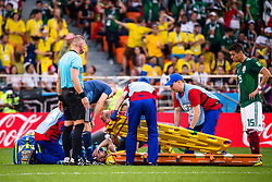 June 27, 2018 - Ekaterinburg, Russia - 180627 Sebastian Larsson of Sweden with a injury during the FIFA World Cup group stage match between Mexico and Sweden on June 27, 2018 in Ekaterinburg..Photo: Petter Arvidson / BILDBYRN / kod PA / 87737 (Credit Image: © Petter Arvidson/Bildbyran via ZUMA Press)