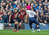 Football - 2018 / 2019 Premier League - Tottenham Hotspur vs. Huddersfield Town<br /> <br /> Victor Wanyama (Tottenham FC)  strikes from the edge of the box at The Tottenham Hotspur Stadium.<br /> <br /> COLORSPORT/DANIEL BEARHAM