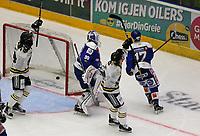 Ishockey , 15. september 2016 , Eliteserien , Get-ligaen , Stavanger Oilers - Sparta <br />Stavanger Oilers feirer mål v Sparta. Foto: Andrew Halseid Budd , Digitalsport