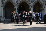 PRINCE WILLIAM; PRINCE ANDREW, Service of thanksgiving for  Lord Snowdon, St. Margaret's Westminster. London. 7 April 2017
