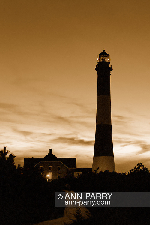 Fire Island Lighthouse and beach, late summer, 2009