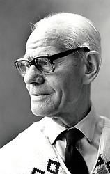 Portrait of elderly  man Nottingham UK 1991