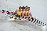 Amsterdam, HOLLAND, AUS M4X, Bow, Chris MORGAn, James McREA, James GATTI and David Kelly, at  the start,  at the 2007 FISA World Cup Rd 2 at the Bosbaan Regatta Rowing Course. [Date] [Mandatory Credit: Peter Spurrier/Intersport-images]..... , Rowing Course: Bosbaan Rowing Course, Amsterdam, NETHERLANDS