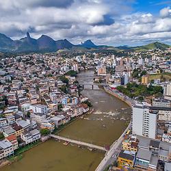 """""""Imgem aérea (DRONE) de Cachoeiro de Itapemirim (cidade) fotografado em Burarama, distrito do município de Cachoeiro de Itapemirim, no Espírito Santo -  Sudeste do Brasil. Bioma Mata Atlântica. Registro feito em 2018.<br /> ⠀<br /> ⠀<br /> <br /> <br /> <br /> <br /> ENGLISH: Aerial image (Drone) of Cachoeiro de Itapemirim city photographed in Burarama, a district of the Cachoeiro de Itapemirim County, in Espírito Santo - Southeast of Brazil. Atlantic Forest Biome. Picture made in 2018."""""""