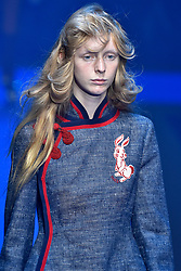 Model  Angelica Jung walks on the runway during the Gucci Fashion Show during Milan Fashion Week Spring Summer 2018 held in Milan, Italy on September 20, 2017. (Photo by Jonas Gustavsson/Sipa USA)
