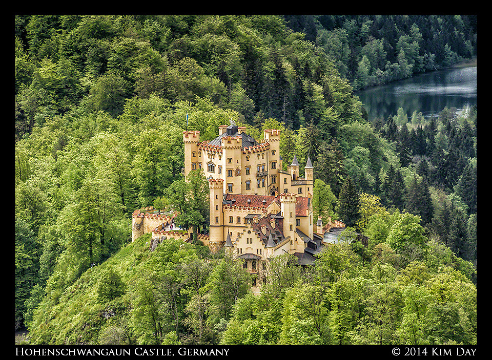 View of Hohenschwangaun Castle From Neuschwanstein Castle<br /> Germany<br /> May 2014