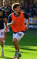 Kalvin Phillips warms up  during the Sky Bet Championship match between Wolverhampton Wanderers and Leeds United at Molineux, Wolverhampton, England on 6 April 2015. Photo by Alan Franklin.