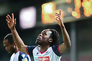 GOAL Scunthorpe United 0 Bolton Wanderers 1 Peter Kioso celebrates after scoring during the EFL Sky Bet League 2 match between Scunthorpe United and Bolton Wanderers at the Sands Venue Stadium, Scunthorpe, England on 24 November 2020.