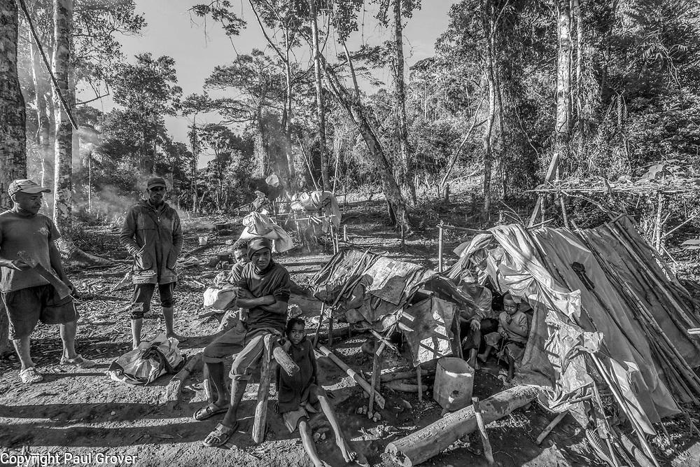 Fea0093883. DT News.The Ankeniheny-Zahamena Corridor, Madagascar.Pic Shows 2 mining families  in Ambolontsangana in  the Ankeniheny-Zahamena Corridor