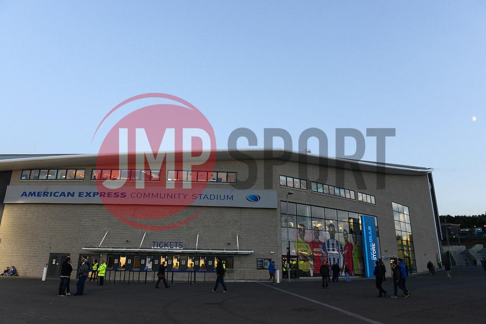 A general view of the American Express Community Stadium  - Mandatory byline: Dougie Allward/JMP - 07966 386802 - 20/10/2015 - FOOTBALL - American Express Community Stadium - Brighton, England - Brighton v Bristol City - Sky Bet Championship