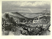 Engraving on The Vale of Nazareth steel of from Picturesque Palestine, Sinai and Egypt by Wilson, Charles William, Sir, 1836-1905; Lane-Poole, Stanley, 1854-1931 Volume 2. Published in New York by D. Appleton in 1881-1884