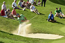 June 21, 2018 - Cromwell, CT, USA - Marc Leishman hits from the green side bunker on the 13th hole during the first round of the Travelers Championship on Thursday, June 21, 2018 at TPC River Highlands in Cromwell, Conn. (Credit Image: © John Woike/TNS via ZUMA Wire)