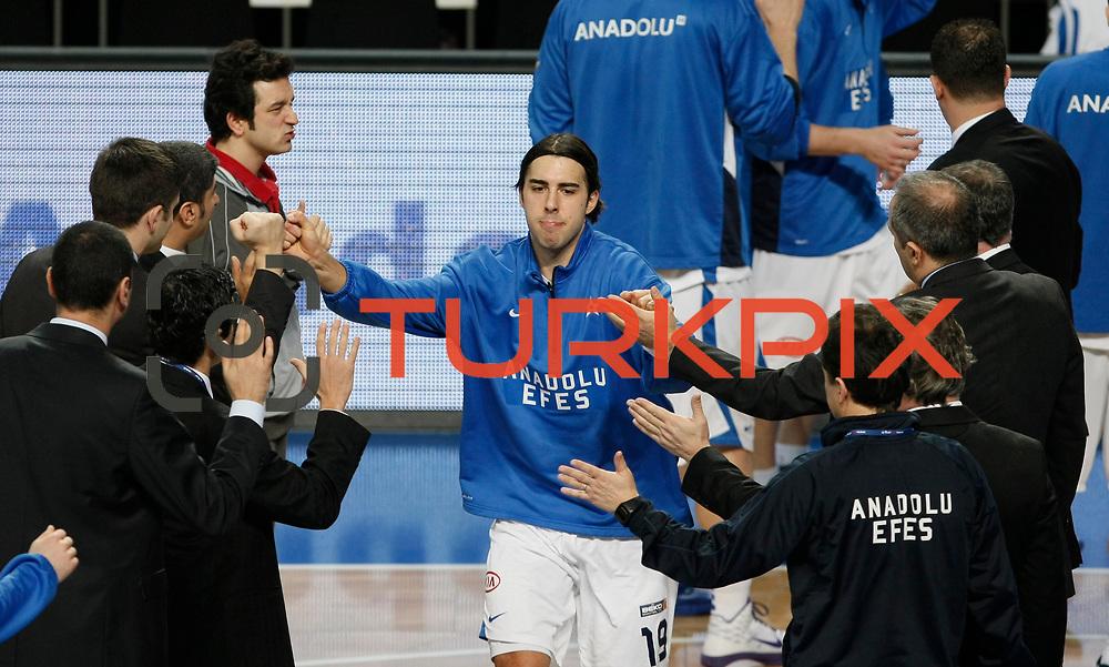 Anadolu Efes's Sasha Vujacıc during their Turkish Basketball League match Anadolu Efes between Mersin BSB at Sinan Erdem Arena in Istanbul, Turkey, Saturday, January 14, 2012. Photo by TURKPIX