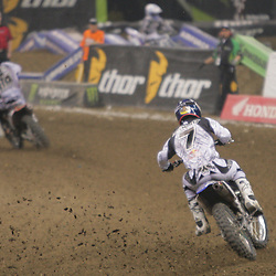 14 March 2009: James M Stewart (7) races during the Monster Energy AMA Supercross race at the Louisiana Superdome in New Orleans, Louisiana