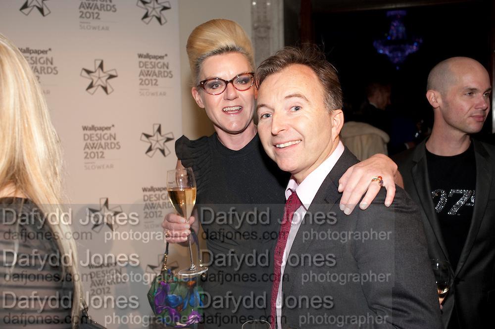 SUZANNE TROCME; TONY CHAMBERS, Wallpaper Design Awards 2012. 10 Trinity Square<br /> London,  11 January 2011.
