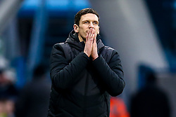 Huddersfield Town caretaker manager Mark Hudson cuts a frustrated figure - Mandatory by-line: Robbie Stephenson/JMP - 20/01/2019 - FOOTBALL - The John Smith's Stadium - Huddersfield, England - Huddersfield Town v Manchester City - Premier League
