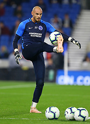 Brighton & Hove Albion goalkeeper David Button prior to the Premier League match at the AMEX Stadium, Brighton.