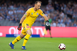 February 23, 2019 - Melbourne, VIC, U.S. - MELBOURNE, VIC - FEBRUARY 23: Melbourne City goalkeeper Eugene Galekovic (18) prepares for a kick at round 20 of the Hyundai A-League Soccer between Melbourne City FC and Melbourne Victory on February 23, 2019 at Marvel Stadium, VIC. (Photo by Speed Media/Icon Sportswire) (Credit Image: © Speed Media/Icon SMI via ZUMA Press)