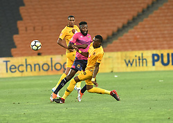 SOUTH AFRICA: JOHANNESBURG: Kaizer Chiefs player Teenage Hadebe battle for the ball with Black Leopards FC player Lifa Hlongwane during the ABSA premiership at the FNB stadium, Gauteng.<br /> Picture: Itumeleng English/African News Agency (ANA)