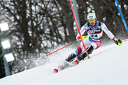 """Ramon Zenhaeusern (SUI) competes during 1st Run of FIS Alpine Ski World Cup 2017/18 Men's Slalom race named """"Snow Queen Trophy 2018"""", on January 4, 2018 in Course Crveni Spust at Sljeme hill, Zagreb, Croatia. Photo by Vid Ponikvar / Sportida"""