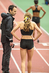 Nike Oregon Project post-meet workout on BU indoor track