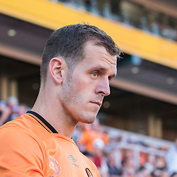 BRISBANE, AUSTRALIA - OCTOBER 30: Luke DeVere of the roar enters the field before the round 4 Hyundai A-League match between the Brisbane Roar and Perth Glory at Suncorp Stadium on October 30, 2016 in Brisbane, Australia. (Photo by Patrick Kearney/Brisbane Roar)