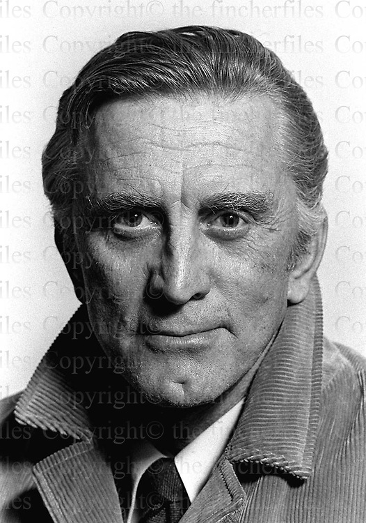 American actor Kirk Douglas photographed in London in 1973 by Terry Fincher.
