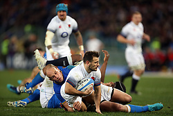 February 4, 2018 - Rome, Rome, Italy - 4th February 2018, Stadio Olimpico, Rome, Italy; NatWest Six Nations Rugby, Italy versus England; (L-R) Sergio Parisse of Italy challenges England's Danny Care ..Credit: Giampiero Sposito/Pacific Press (Credit Image: © Giampiero Sposito/Pacific Press via ZUMA Wire)