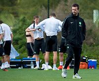 09/01/15<br /> CELTIC TRAINING <br /> SALOBRE GOLF RESORT - GRAN CANARIA<br /> Celtic Manager Ronny Deila watches over training