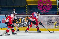 21.12.2019, Ice Rink, Znojmo, CZE, EBEL, HC Orli Znojmo vs Dornbirn Bulldogs, 30. Runde, im Bild v.l. Aaron Berisha (HC Orli Znojmo) Adam Sedlak (HC Orli Znojmo) // during the Erste Bank Eishockey League 30th round match between HC Orli Znojmo and Dornbirn Bulldogs at the Ice Rink in Znojmo, Czechia on 2019/12/21. EXPA Pictures © 2019, PhotoCredit: EXPA/ Rostislav Pfeffer