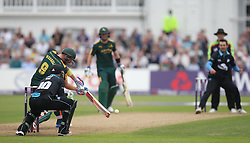 Riki Wessels of Notts Outlaws (C) hits the winning runs - Mandatory by-line: Jack Phillips/JMP - 09/07/2016 - CRICKET - Trent Bridge - Nottingham, United Kingdom - Nottingham Outlaws v Worcestershire Rapids - Natwest T20 Blast