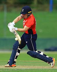 October 5, 2018 - Colombo, Sri Lanka - England ODI cricket captain Eoin Morgan plays a shot during the practice cricket match between Sri Lanka Board XI and England at P Sar Oval cricket ground, Colombo, Sri Lanka. 10-05-2018  (Credit Image: © Tharaka Basnayaka/NurPhoto/ZUMA Press)