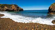 Rocky beach at Tinker's Cove, Santa Cruz Island, Channel Islands National Park, California USA