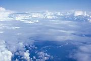 Cumulus and Cirrus clouds