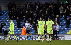 Anthony Grant of Peterborough United (right) cuts a dejected figure after conceding the penalty which Millwall scored from - Mandatory by-line: Joe Dent/JMP - 28/02/2017 - FOOTBALL - The Den - London, England - Millwall v Peterborough United - Sky Bet League One